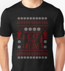 EAT THE RUDE - ugly christmas sweater  Unisex T-Shirt