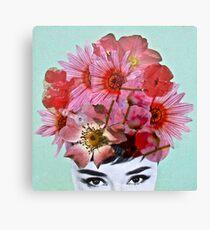 Audrey in Summer Canvas Print
