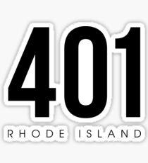 Rhode Island - 401 Area Code Sticker