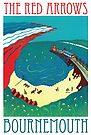 Red Arrows, Bournemouth - Original Linocut by Francesca Whetnall by Cecca-Designs