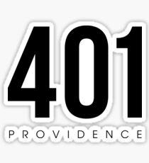 Providence, RI - 401 Area Code Sticker