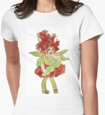 Cute Vintage Flower Child Milkweed Womens Fitted T-Shirt