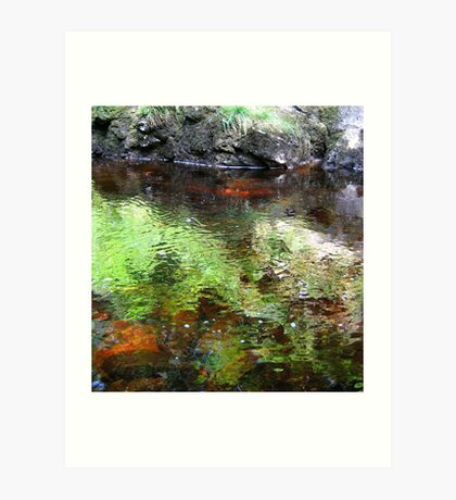 Water Slow and Calm..... Art Print