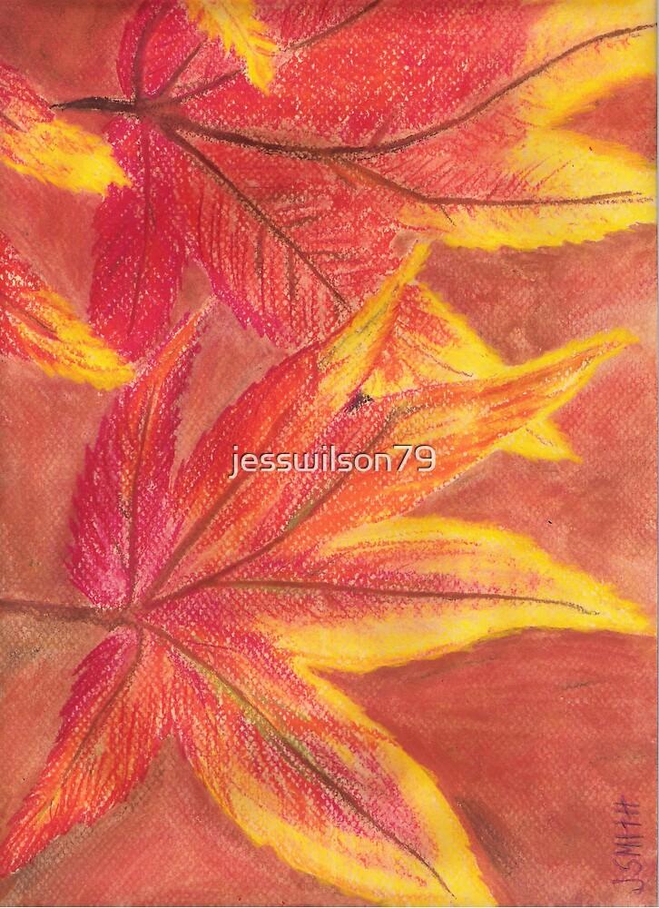 Pastel Fall Leaves by jesswilson79