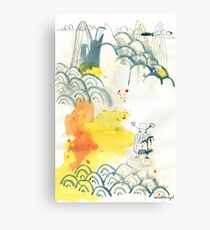 abstract, Landschaft, ink painting, Chinese landscape, Malerei Canvas Print
