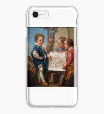 Carle Vanloo, artist French,  Architecture,  oil on canvas iPhone Case/Skin