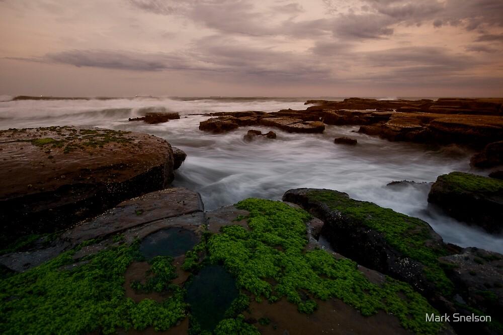 Bar Beach Rock Platform 8 by Mark Snelson