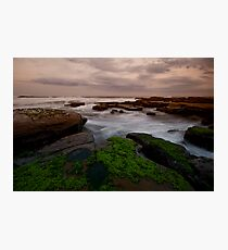 Bar Beach Rock Platform 8 Photographic Print