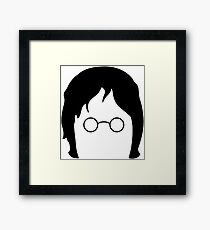 lennon beatles Framed Print