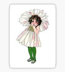 Cute Vintage Flower Child Daisy Sticker