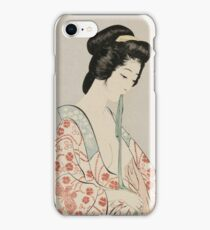 Hashiguchi Goyo - Woman In A Long Undergarment (Nagajuban O Kitaru Onna) iPhone Case/Skin