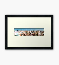 Aerial Panoramic View Of Valencia City In Spain Framed Print
