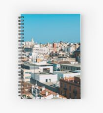 Aerial Panoramic View Of Valencia City In Spain Spiral Notebook