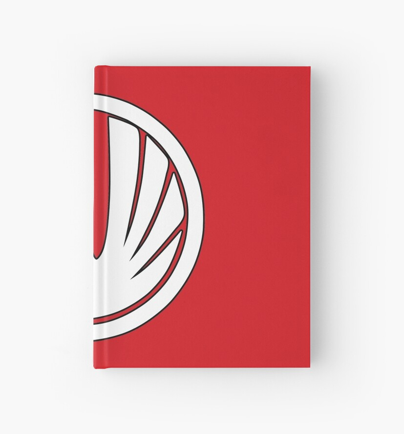 Red Wind Ranger Ninja Storm Hardcover Journals By Grinalass
