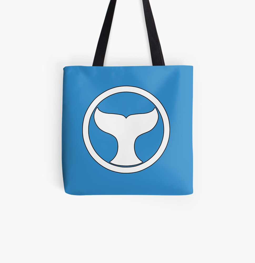 Mighty Morphin Power Rangers RED RANGER SYMBOL Tote Bag Many Sizes