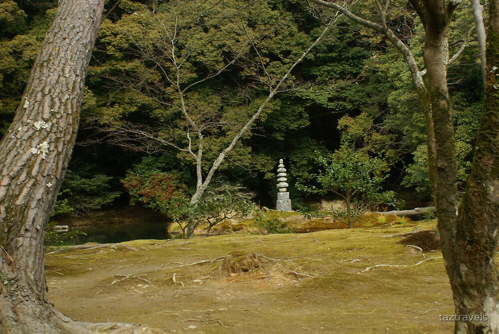 Japan - Golden Temple - Lanscape With Pillar by taztravels