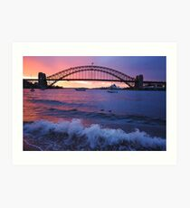 Morning Wake - Sydney Harbour, Sydney Australia Art Print