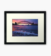 Morning Wake - Sydney Harbour, Sydney Australia Framed Print