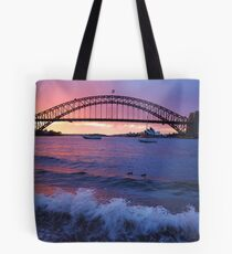 Morning Wake - Sydney Harbour, Sydney Australia Tote Bag