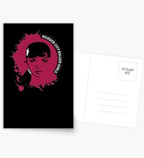 Murder City Roller Girls Logo Postcards