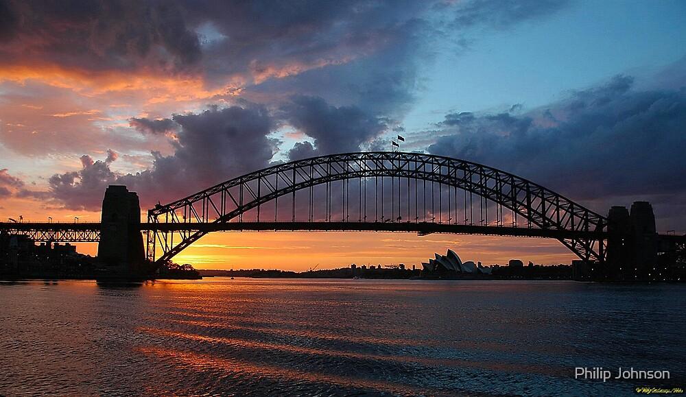 Dawn of the Emerald City - Sydney Harbour,Sydney Australia by Philip Johnson