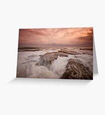 Bar Beach Rock Platform 11 Greeting Card