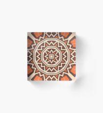 Mandala tiling Acrylic Block