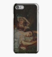Gustave Courbet - Young Ladies On The Bank Of The Seine iPhone Case/Skin