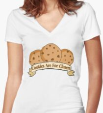Cookies are for Closers! Women's Fitted V-Neck T-Shirt
