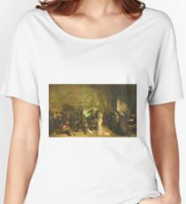 Gustave Courbet - The Studio Of The Painter, A Real Allegory Women's Relaxed Fit T-Shirt
