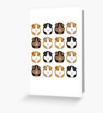 Meerschweinchen-Muster Grußkarte