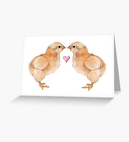 Baby Chick Love Greeting Card