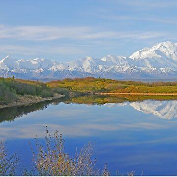 Alaskan Range over Reflection Lake by grmahyde