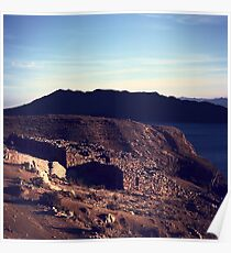 Chinkana Archeological Site on Isla del Sol in Bolivia Poster