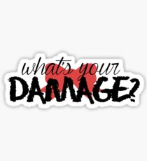 What's Your Damage? (Red Bow) Sticker