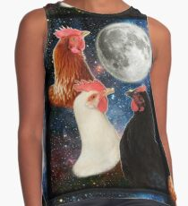 3 Chicken Moon Contrast Tank