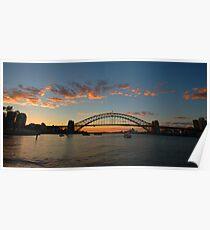 Wisps Of Day- Sydney Harbour, Sydney Australia Poster