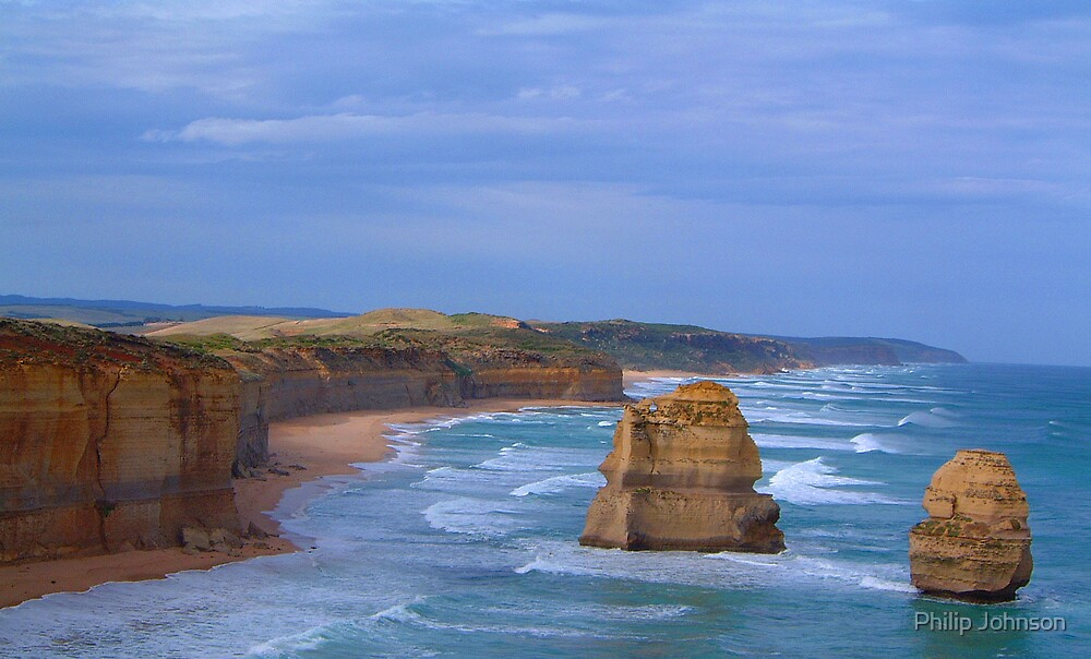 Separated By Time- The Great Ocean Road, Victoria Australia by Philip Johnson