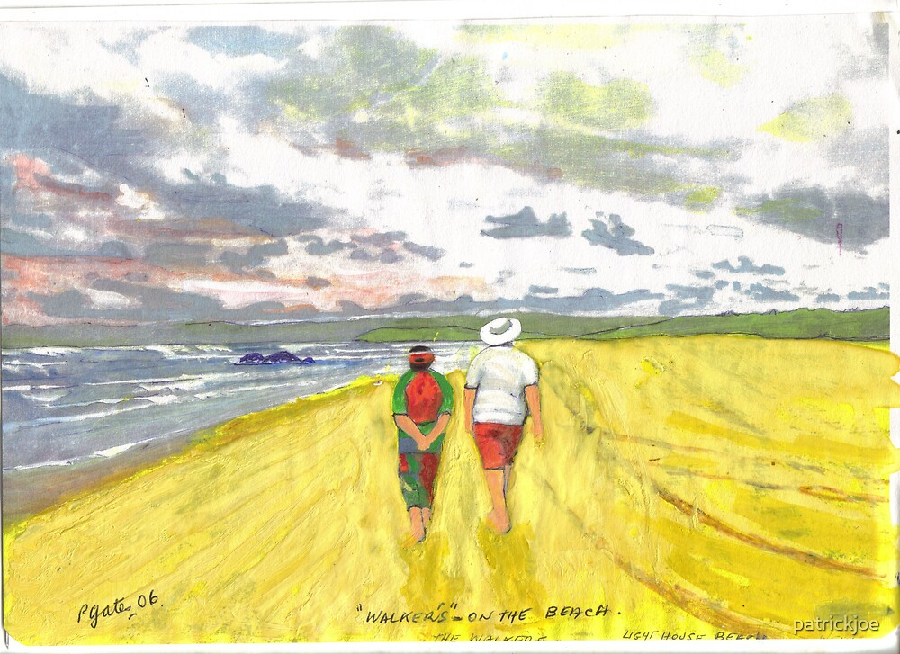 walking along the beach by patrickjoe