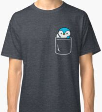 Penguin In Your Pocket Funny Emoji Gift Classic T-Shirt