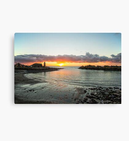 Portpatrick A Winter Sunset Canvas Print
