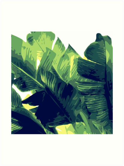 banana leaf art prints by myart23 redbubble