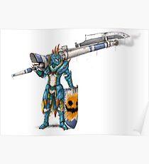 Monster hunter Gunlancer Poster