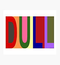 DULL 01 Photographic Print
