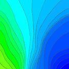 Wavy Pattern Blue + Green   by CarolineLembke