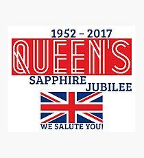 Queen's Sapphire Jubilee Photographic Print