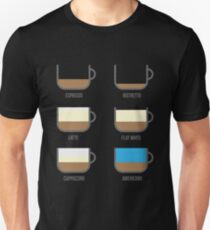 Coffee Types Barista Illustration Unisex T-Shirt