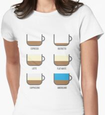 Coffee Types Barista Illustration T-Shirt