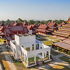 Myanmar. Mandalay. Royal Palace. View from the Watch Tower. by vadim19