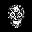 Black and White Candy Skull by ShakeyIllustra